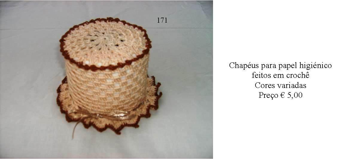 Chapéus em croche para papel higiénico - Manuel A. M. Pacheco - Artesanato 6450dd859c8
