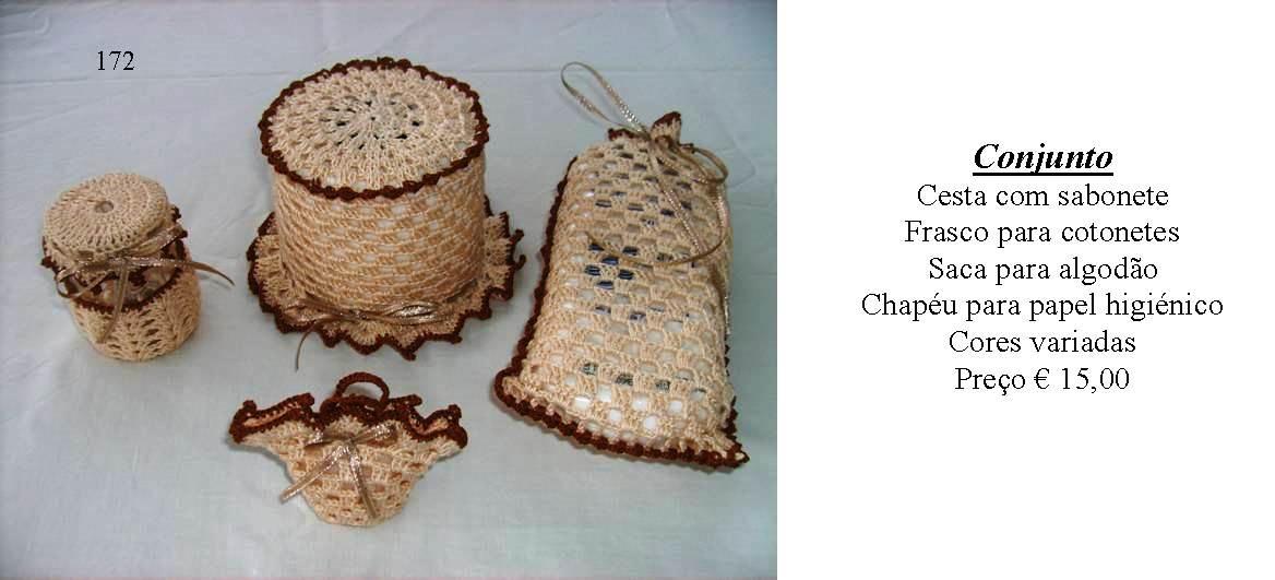 Conjuntos em croche para casa de banho - Manuel A. M. Pacheco - Artesanato d50e7b5a78f