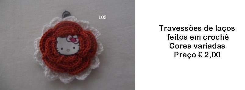 Travessões de laços feitos em crochê - Manuel A. M. Pacheco - Artesanato 58ad56c2671