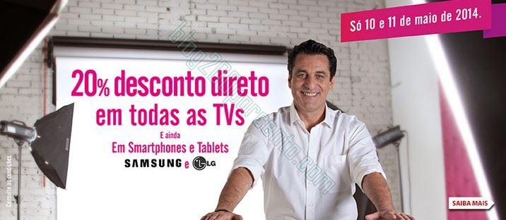 20% de desconto direto   RADIO POPULAR   dias 10 e 11 maio - Samsung