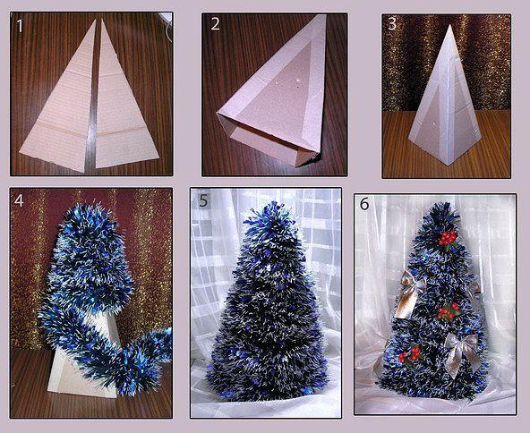 Как сделать своими руками новогоднюю ель