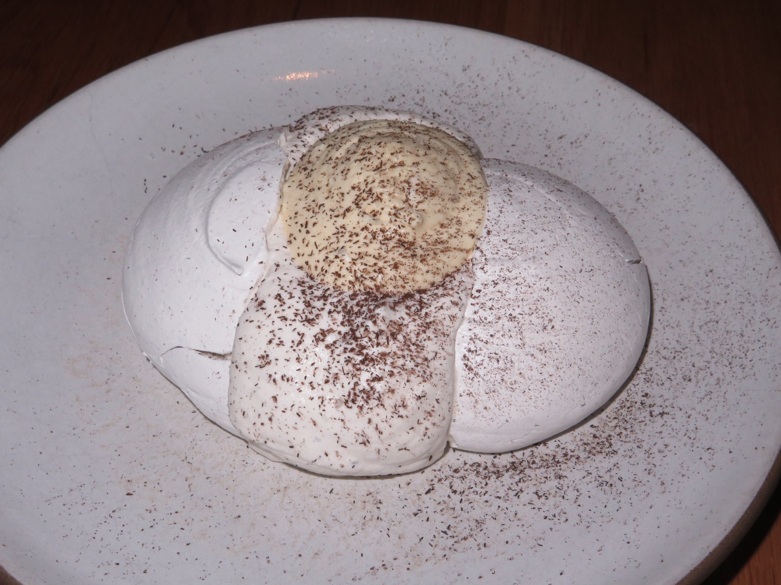 Husk meringue, corn mousse