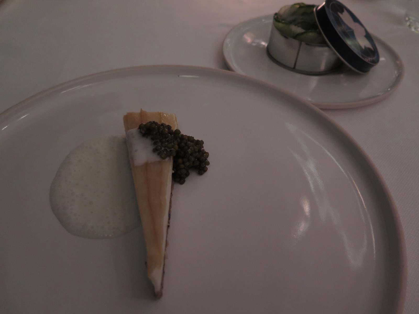 CHEESECAKE with Sturgeon, Caviar, Everything Bagel and Pickles